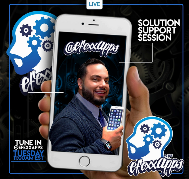 efexx app live chat on instagram